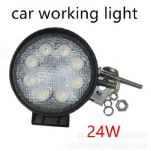 best selling 2X24W LED Work Lights For Offroad 12V 24V ATV Lamp Tractor Truck Light Boat SUV UTV(China)