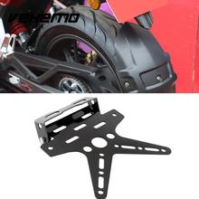 Black Adjustable Custom Motorcycle Motor Motorbike Fender Eliminator Sport License Plate Bracket Metal Steel Dirt Bike Atv(China)