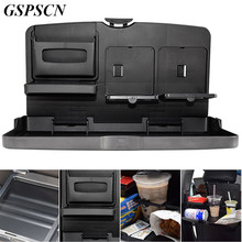 GSPSCN Universal Auto Car Back Seat Table Drinks Folding Cup Holder Stand Desk Black Multifuntional Trays Car Front Seat Back