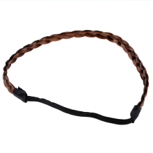 New Braided hair headband hair headwrap (brown)