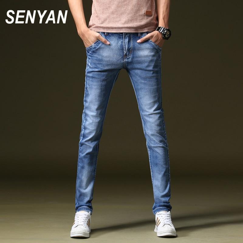 SENYAN 2017 BlueJeans Men Straight Jeans Pants Plus Size 27-40 High Quality  Brand  Button Mens Jeans 1663Одежда и ак�е��уары<br><br><br>Aliexpress