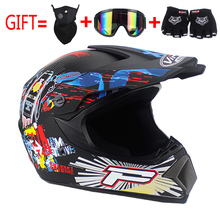 Hot sales off-road helmets downhill racing off-road helmets off-road mountain full face helmet motorcycle goggles gloves