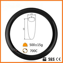 bicycle manufacturer carbon rim 60mm clincher rim 3k matte finish Bike 60mm Carbon Road Wheels 700c Rim 1pcs(China)