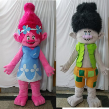 ohlees actual picture cartoon movie Trolls Mascot Costume poppy branch Parade Quality Clowns Halloween party activity Character
