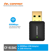 Comfast Mini USB WiFi adaptor 600Mbps 802.11ac Wi-Fi dongle 5GHz usb wifi Wireless Network LAN Card for pc wifi receiver/emitter(China)
