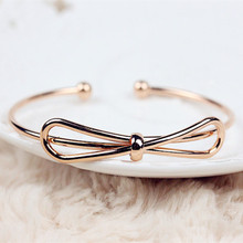 Popular lady bowknot is han edition style bracelet 18 k rose gold bracelet jewelry gift email