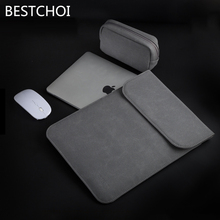 New Laptop Leather Case for Apple Macbook Air Pro Retina 11 12 13 15 inch Sleeve Case for Mac book Matte Cover(China)