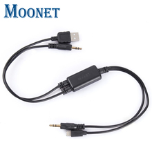 Moonet Car Audio connect iPhone5/6 iPod iPad USB Interface Adapter AUX Cable for BMW mini cooper E26 E30 E32 QX179(China)