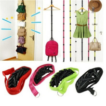 1pcs New Novelty Straps Hanger Adjustable Over Door Hat Bag Clothes Rack Holder Organizer 8 Hooks Best Deal