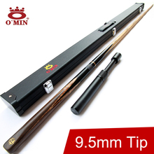 2016 Omin High Quality 3/4 Snooker Cue Stick 9.5mm Tips Cobra Model Handmade Snooker Cues Case Set China