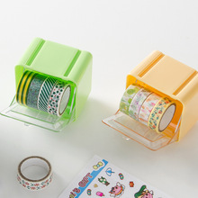 Color Washi Tape Storage Box Diy Must Have Plastic Adhesive Tape Dispenser Office Desktop Scotch Tape Holder School Supplies(China)