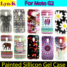 2017 Aztec TRIBLE Culture TPU Case sFor Motorola Moto G2 Elephant Flower Silicon Gel Back cover for Motorola Moto G2 Phone Case