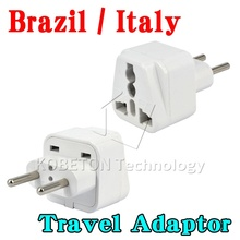 Universal Wall Charger EU AU US UK to Brazil Italy Jack Universal 2 Pin Home Household Travel Adapter AC Power Plug Converter