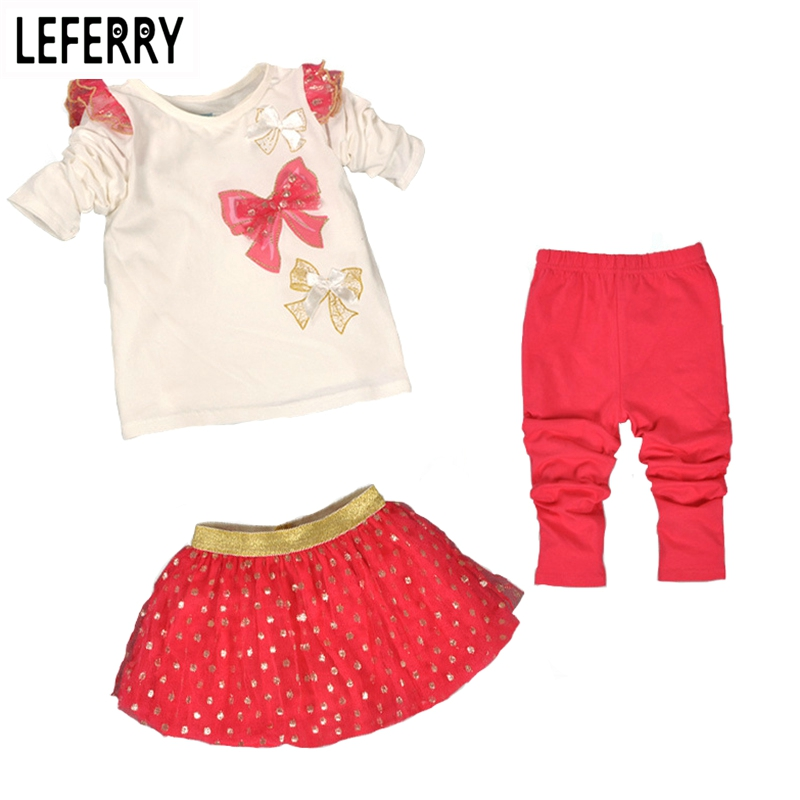 3PCS Kids Clothes Girls Clothing Sets Baby Clothes High Quality Toddler Girl Clothing Birthday Girl Outfits Christmas 2017 New<br><br>Aliexpress