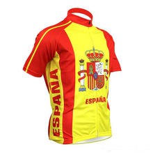 Spainish ciclismo maillot camiseta team Spain cycling jersey Short sleeve cycling clothing tenue cycliste(China)