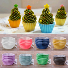 100Pcs/Pack Kitchen Mini Paper Cupcake Case Wedding Wrapper Muffin Liners Baking Cups Cake Tools #246729(China)
