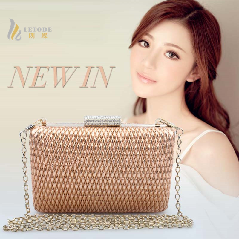 2018 New Arrival  Evening Clutch Wedding Bridesmaid Bag Party Diamond Evening Bags popular personality braided straw bag<br>