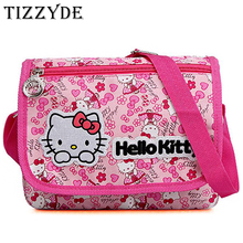 Fishhome Hello Kitty Cartoon Girls Women Messenger Bags 2017 High Capacity Shoulder Bags Canvas Crossbody Bag Pink Color LTL77(China)