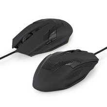 GTFS-2000DPI Wired Optical Ergonomic 6 Buttons Scroll Wheel Gaming Laptop Mouse Mice(China)