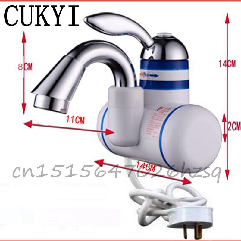 CUKYI 3 seconds Instant Tankless Electric Water Heater Kitchen Instant Hot Water Tap Shower Hot And Cold Dual-Use<br>