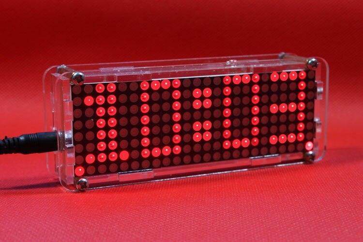Dot matrix LED electronic clock microcontroller LED digital clock personality clock desktop<br>