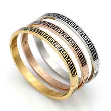 Top Quality 316L Stainless Steel Bangle Fashion Women/Men Jewelry Wholesale Enamel G Style Vintage Bracelets & Bangles
