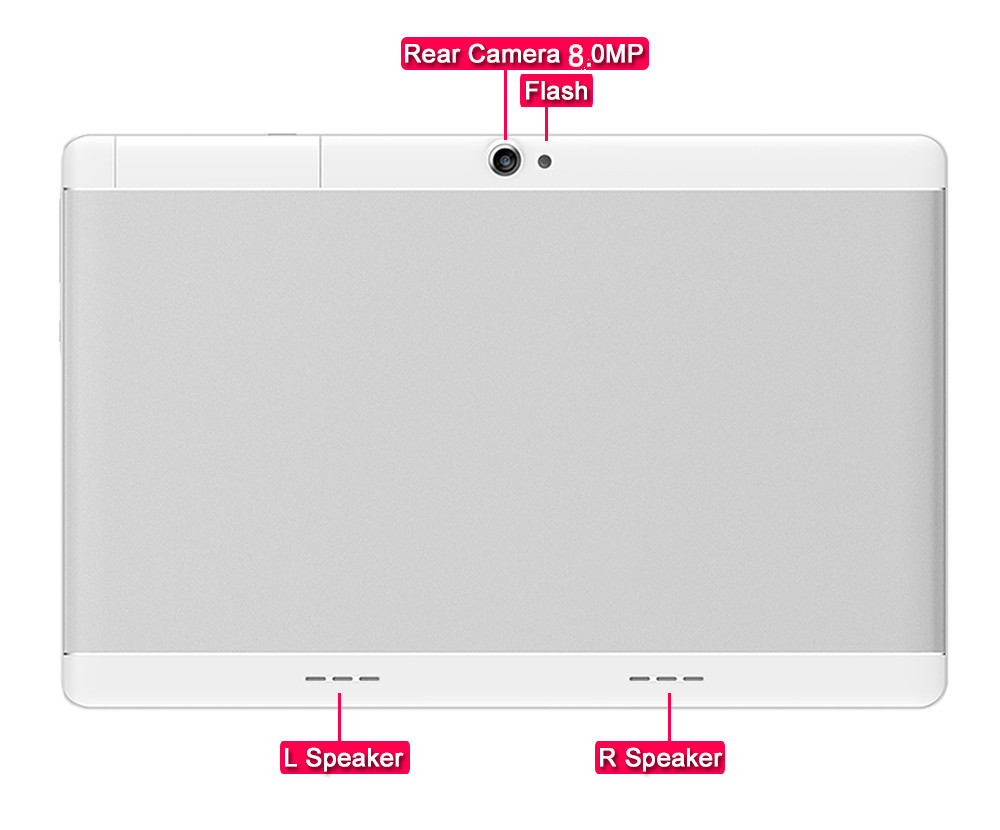Dual camera tablet pad