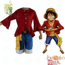 The One Piece Cosplay luffy after cos luffy long-sleeve clothes strawhat luffy costume