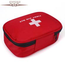 Stay Gold Household Emergency Medical Kit Travel Outdoor On Board Medical Bag Earthquake Disaster Survival Bag Storage Box(China)