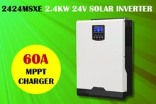 3KVA 2400w 24v 230V Solar inverter with MPPT solar charger 60A + battery charger 60A(Taiwan)
