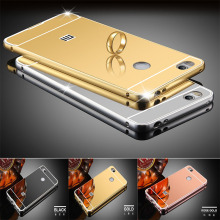 Luxury Gold Plating Aluminum Metal Mirror Case For Xiaomi Redmi 4X Phone Case Back For Redmi 4X case