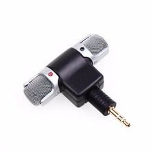 NEWEST Electret Condenser Mini Microphone Stereo Voice MIC 3.5mm for PC for Universal Computer Laptop phone Microphone(China)
