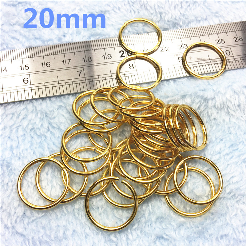5-20mm gold  BagHandbag shopping bags Circle Ring Buckle Metal Packets Accessories
