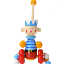 MamimamiHome Baby Wooden Push Toys For Children Duck Navy Children Walker Montessori Wooden Educational Toys Building Blocks(China)