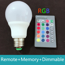 3W RGB LED Light 16 colors change LED RGB Bulb Lamp with remote control Dimmable Lampada led 110V 220V for Christmas night light