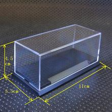 1:64 model box Acrylic organic glass Transparent model display box 11X5.5X4.5cm suit Greenlight Hot Wheels Kyosho M2 machines