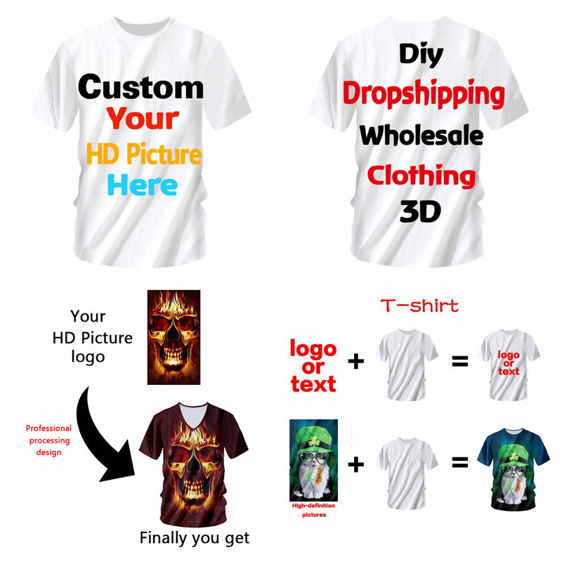 Loose T Shirt,Kids Collection Animal Fashion Personality Customization