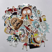 35Pcs/lot Drama Rick and Morty 2017 Stickers Decal For Snowboard Laptop Luggage Car Fridge DIY Styling Vinyl Home Decor Pegatina(China)