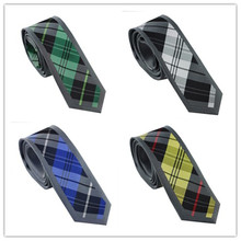 Men's Suit Ties New Design Border Blue Green Gray Black Yellow Plaid Striped NeckTie Skinny 6cm Dress Shirts Wedding Cravat