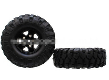 1.9 108mm metal lock Wrangler tire simulation climb tire assembly SCX10 F350 HILUX black
