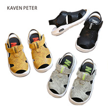 Kids summer shoes small boys sandals peep-toe and hole Breathable Orthopedic footwear children outdoor shoes flat beach sandals