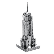 TD ZW  Educational 3D Puzzles Metal Model Famous Architecture Building Model Jigsaws Empire State Building Jigsaw DIY Toy Gift