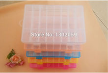 New High Quality Cross Stitch Embroidery Tool Storge Box 24 Plastic Grids--1 Lot=3 Sets
