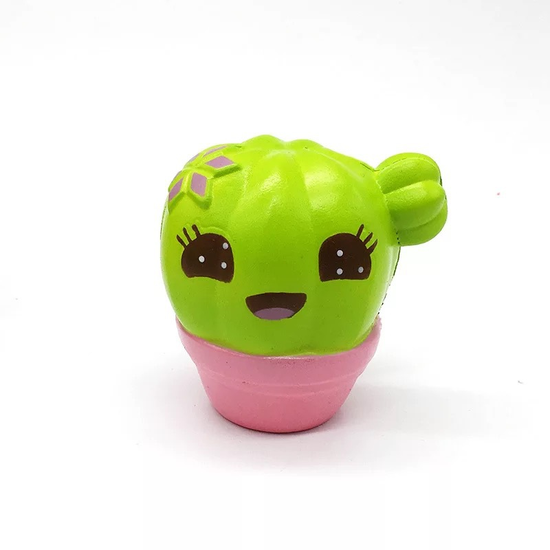 Fun Squishies Cactus Scented Squeeze Healing Squishy Slow Rising Soft Stress Relief Toys Phone Straps Keychain Gift Craft Decors (3)