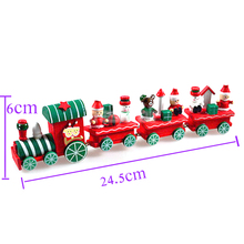 Wooden Christmas Design Train Newest 4 Piece Wood Xmas Train Ornament Decoration Children Diecast Toys funny cute Chrismas Gift