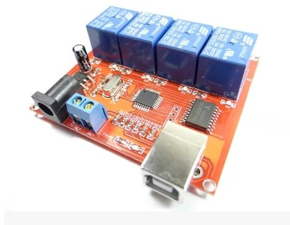 The new 4 way 12V computer USB control switch drive relay module PC intelligent controller<br>