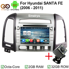 2GB RAM 1024*600 Octa Core Android 6.0.1 Fit For Hyundai SANTA FE 2006 2007 2008 2009 2010 2011 2012 Car DVD Player GPS TV Radio