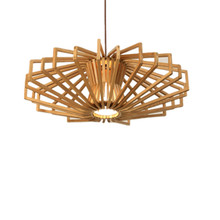 Nordic simple  bar lights industrial wood pendant solid personality diamond chandeliers wholesale