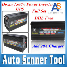 2016 Hotsales Power Inverter 1500W 12V DC TO 220V AC UPS Power Inverter With 20A Charger