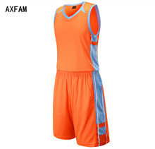 AXFAM Men's basketball jerseys kit 2017 Breathable Quick Dry blank Custom throwback Uniforms Basketball Shirt shorts LIE2201